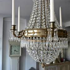 Swedish Chandelier Large Swedish Empire Style Chandelier In Antique Brass In Lighting