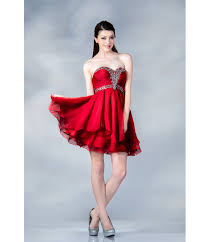 prom dresses red chiffon sweetheart short prom dress fashionoah com
