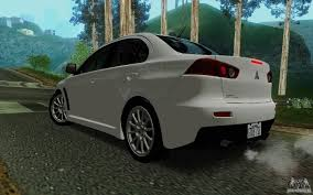 mitsubishi evolution 10 mitsubishi lancer evolution x tunable for gta san andreas