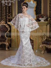 matching wedding dresses lace satin strapless mermaid wedding dress with matching cape