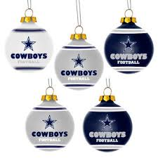forever collectibles dallas cowboys 5 pack shatterproof ornaments
