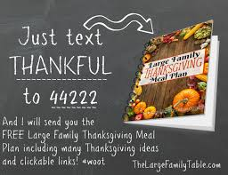 thanksgiving meal plans meal planning archives large family table