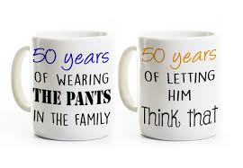 wedding gift mugs 50th anniversary gift his and coffee mugs 50 years