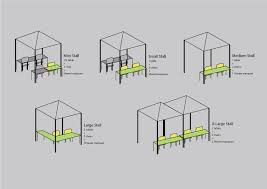 Table Size Handmade Hong Kong Stall Specifications