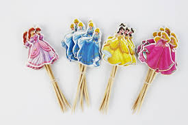 cinderella cupcake toppers 24pcs 4 designs cinderella princess cupcake toppers picks princess