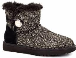 ugg womens mini bailey button sale ugg australia mini bailey button fancy 1009293 boots color black