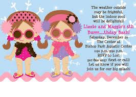 personalized girls invites custom girls birthday party invitations