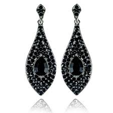 black earrings classic teardrop earrings black teardrop earrings