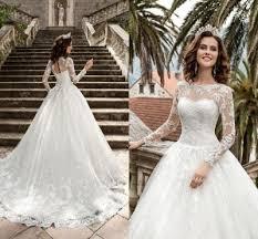 new queen vestios de novia a line wedding dresses 2017 sheer long