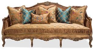 wood trim sofa aico sienna wood trim sofa butterscotch finish usa furniture