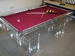 Pool Table Boardroom Table Unique Designer Transparent Acrylic Perspex Pool Table Crazy