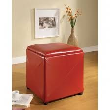 storage ottoman cube with tray foter