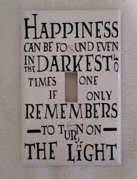 harry potter decor happiness can be found harry potter quote light switch cover by