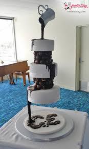 3 tier chocolate waterfall wedding cake cake by yeners way
