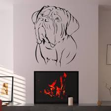 decorating victorian design with central circle wall art stickers decorating bordeaux dog wall art stickers over flame vinyl wall art decals graphics stickers