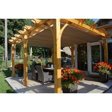Pergola Shade Ideas by Decor Wooden Deck With Solid Wooden Pergola Canopy For