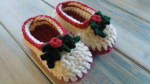 crochet how to crochet simple chunky baby booties xmas but