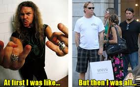 James Hetfield Meme - rock stars yesterday and today smosh
