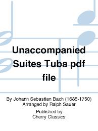 unaccompanied suites tuba pdf file sheet by johann sebastian