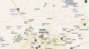 Wichita Zip Code Map San Antonio Area U0027s Wealthiest Zip Codes By Average Household