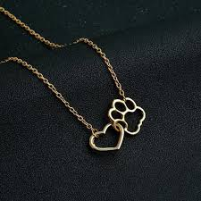 heart dog necklace images Their paws to my heart dog necklace flux deals jpg