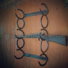 handmade horseshoes rustic horseshoe gun rack western 3 gun rack home decor