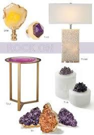 Home Stones Decoration Deco Amethyst Diy Designlovefest Craft Ideas Pinterest