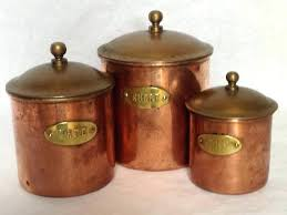 copper kitchen canister sets copper kitchen canisters vintage copper canister set rustic copper