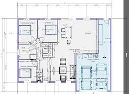 plan maison plain pied 3 chambres 100m2 délicieux plan de maison 3 chambres plain pied 7 plan maison