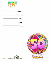 Online Birthday Invitation Card Maker Free Printable 50th Birthday Invitation Cards