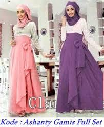 Baju Muslim Grosir grosir baju muslim murah ashanty gamis set modenagrosir