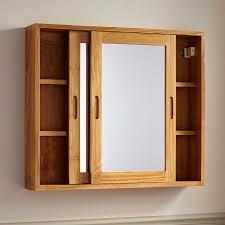wood bathroom medicine cabinets top 73 ace recessed bathroom cabinet teak wood furniture bamboo