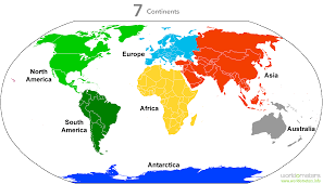 Map Of South America And North America by Continents Worldometers