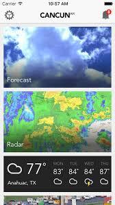 cancun wx cancun weather forecast radar traffic apps 148apps