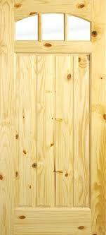 Exterior Pine Doors Pine Wood Doors 3 Lite Exterior Knotty Pine 3 Lite Top