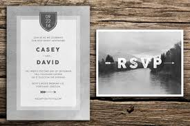 grey mountain wedding invitation postcard rsvp seattle