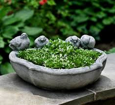 the alouette planter is a beautiful tabletop garden or terrace