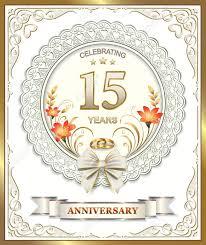 15 wedding anniversary 15 year wedding anniversary in a beautiful frame royalty free