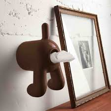 Toilet Roll Holder Propaganda D Dog Brown Toilet Roll Holder From Flamingo Gifts