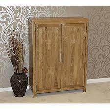 solid oak shoe cupboard cabinet hallway u0026 porch storage