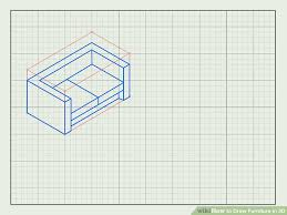 how to draw furniture in 3d with pictures wikihow