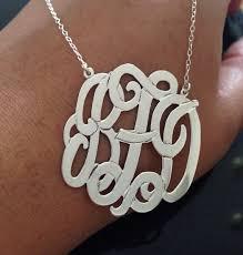 2 inch monogram necklace bettyzdesigns