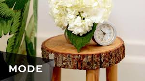 how to make a tree stump table diy tree stump table glam it yourself youtube