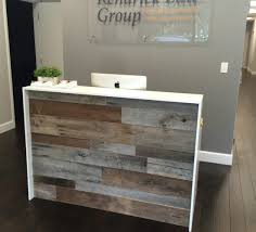 Reception Desk Wood Grey Barn Wood Archives Fama Creations