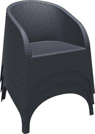 Stackable Wicker Patio Chairs 3 Piece Aruba Wicker Bistro Set Patio Productions