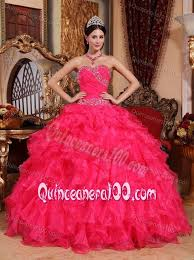 quinceanera dresses coral beaded ruffled coral quinceanera dress wholesale