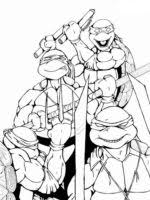 free printable ninja turtles coloring pages boys