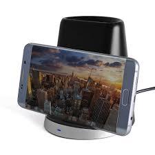 fast wireless charger desk station u0026 pen holder for phones