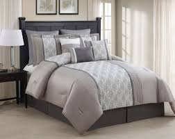 Taupe Comforter Sets Queen 9 Piece Queen Augustine Taupe Gray Ivory Comforter Set Home
