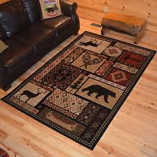 Moose Area Rugs Moose Deer Wildlife Southwest Cabin Lodge Area Rug 2x4 5x8